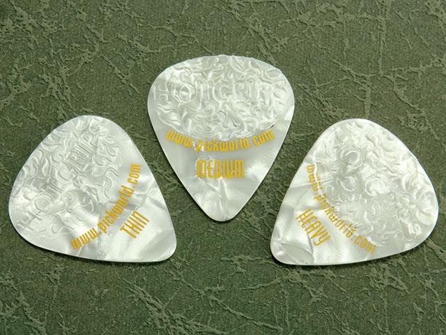 Pick World Hot Grips White