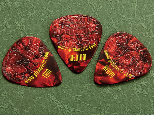 Pick World Hot Grips Red